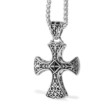 Men's Viking Style Cross Pendant Necklace