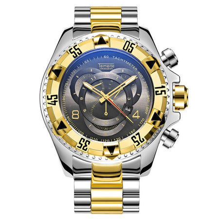 Quartz Waterproof Watches With Big Dial And Multifunction Chronograph - GiftWorldStyle - Luxury Jewelry and Accessories