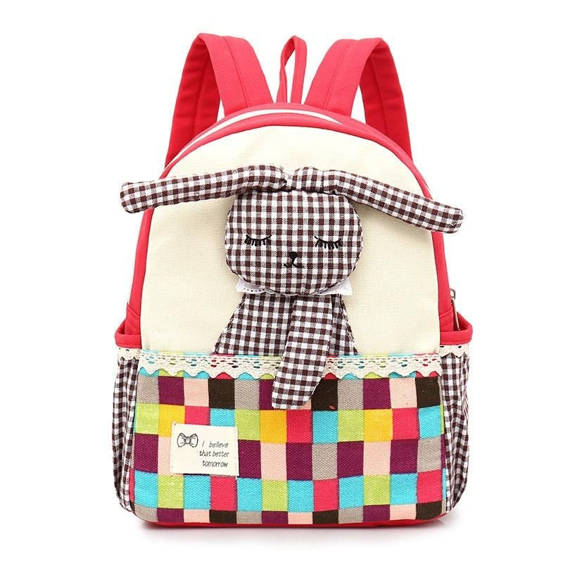 Children's Backpack With Lovely Patchwork Rabbit