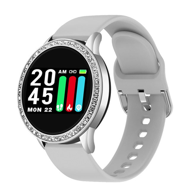 Smart Waterproof Watch With Heart,Blood Rate And Pedometer