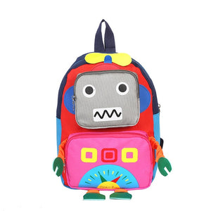 "Patchwork Children Backpacks For School ""Robot Style"" - GiftWorldStyle - Luxury Jewelry and Accessories"