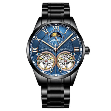 Double Flywheel Mechanical Watch- Moon Phase, Water Resistant