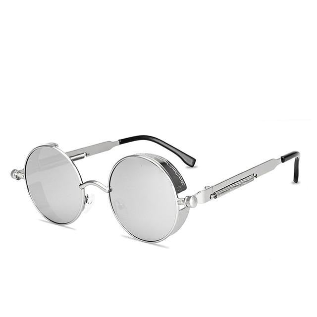 Round Gothic Steampunk Sunglasses For Driving With UV400 - GiftWorldStyle - Luxury Jewelry and Accessories
