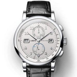 Leather Waterproof Mechanical Watch - Complete Calendar, Sapphire Crystal
