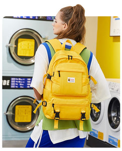 Yellow Backpack For School With Phone Charger