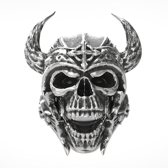 Punk Gothic Ring With Skull Templar Knight - GiftWorldStyle - Luxury Jewelry and Accessories