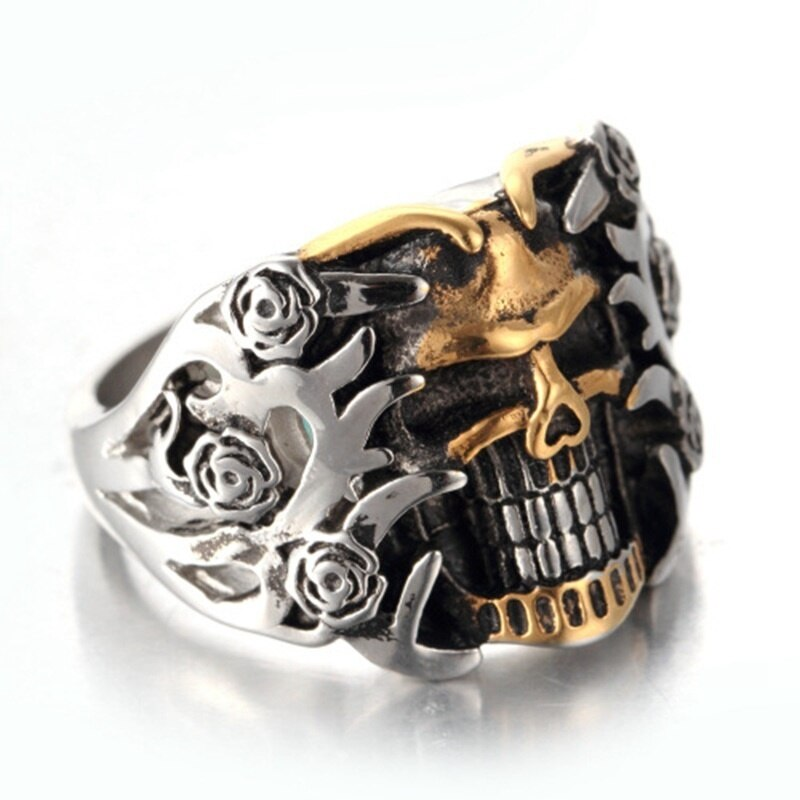 Retro Skull Double Color Ring For Punk Men - GiftWorldStyle - Luxury Jewelry and Accessories
