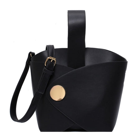 Tote Bucket Women Bag With Crossed Handle