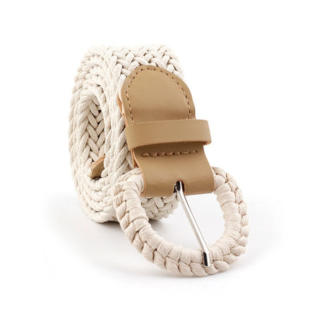 Bohemian Style Belt With Woven Braided Hemp