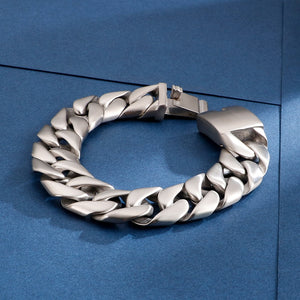 Heavy Chunky Cuban Link Chain Bracelet - GiftWorldStyle - Luxury Jewelry and Accessories