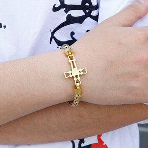 Christian Cross Charm Prayer Bracelet - GiftWorldStyle - Luxury Jewelry and Accessories