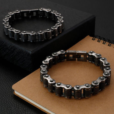 Brushed Bike Chain Bracelet