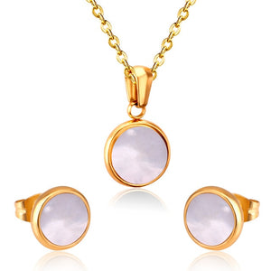 Opal Shell Jewelry Sets - Necklace & Earrings - GiftWorldStyle - Luxury Jewelry and Accessories