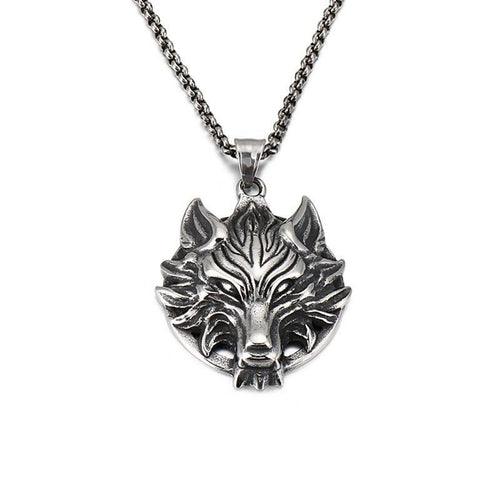 Punk Viking Wolf Necklace - GiftWorldStyle - Luxury Jewelry and Accessories