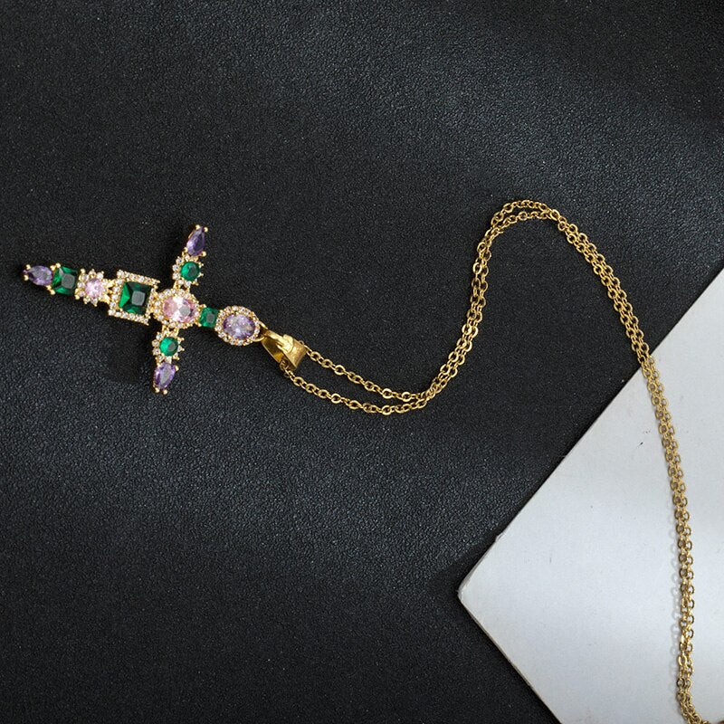 Luxury Crystal Cross Necklace - GiftWorldStyle - Luxury Jewelry and Accessories