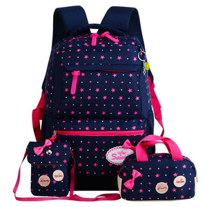 3 Set School Bag for Girl With Sweet Cute Princess - GiftWorldStyle - Luxury Jewelry and Accessories