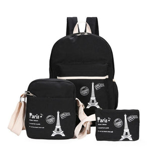 Fashion Children Backpack From 3 Pcs Bag And Paris Print - GiftWorldStyle - Luxury Jewelry and Accessories