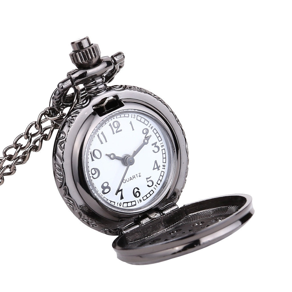 Small Pocket Watch With Quartz Round Dial,Spider Web - GiftWorldStyle - Luxury Jewelry and Accessories