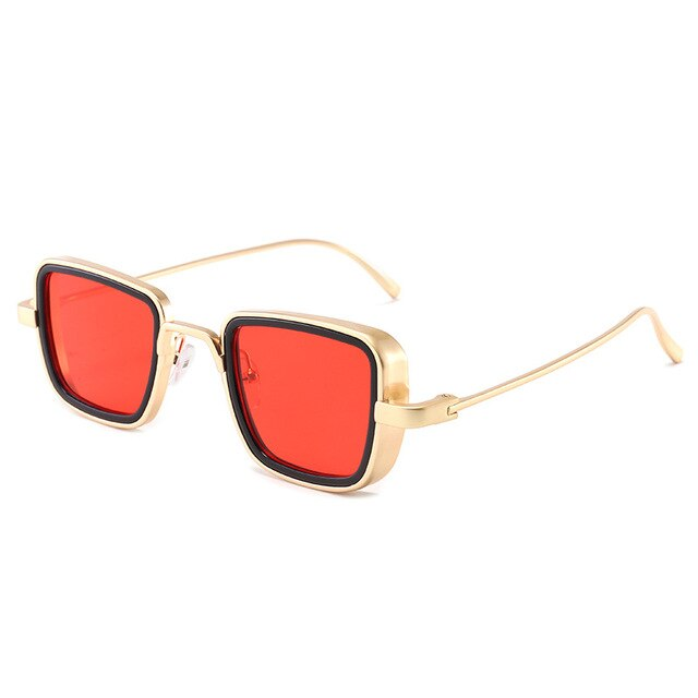 Vintage Square Sunglasses From Polycarbonate Frame,UV400 - GiftWorldStyle - Luxury Jewelry and Accessories