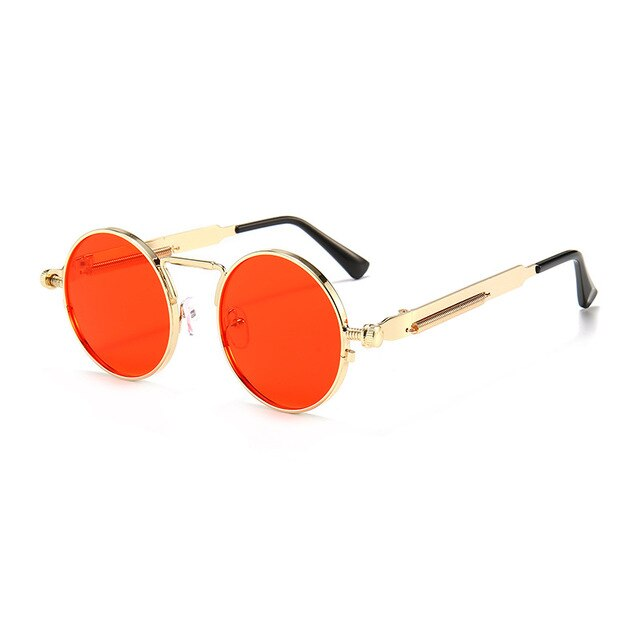 Metal Steampunk Sunglasses With Round Glasses,UV400 - GiftWorldStyle - Luxury Jewelry and Accessories