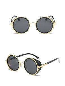 Steampunk Sunglasses For Women With Visor Circle Lens - GiftWorldStyle - Luxury Jewelry and Accessories
