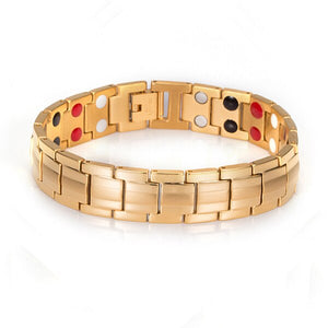 Magnetic Bracelet From Gold-color Energy Chain,Stainless Steel - GiftWorldStyle - Luxury Jewelry and Accessories