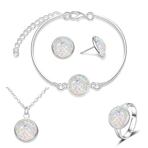 Sparkly Quartz Rhinestone Jewelry Set - GiftWorldStyle - Luxury Jewelry and Accessories