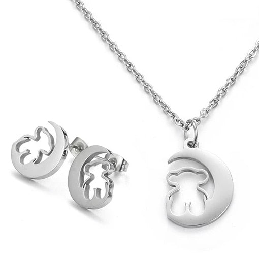 Bear Heart Jewelry Sets For Women - GiftWorldStyle - Luxury Jewelry and Accessories