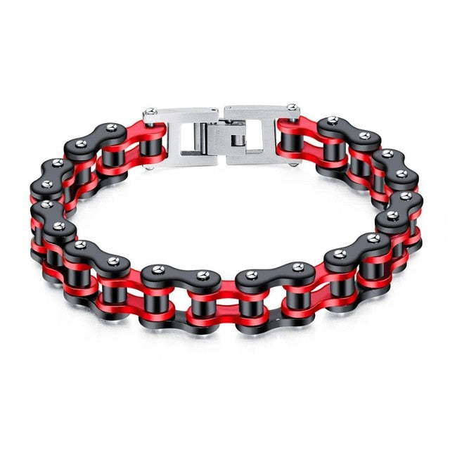 Motorcycle Chain Bracelet - Titanium Steel - GiftWorldStyle - Luxury Jewelry and Accessories