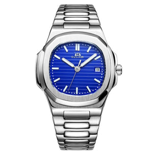 Irregular Shape Mechanical Luminous Watch With Luminous Hands And Auto Date - GiftWorldStyle - Luxury Jewelry and Accessories
