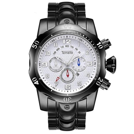 Men's Quartz Watch From Stainless Steel With Luminous Hands,3Bar - GiftWorldStyle - Luxury Jewelry and Accessories