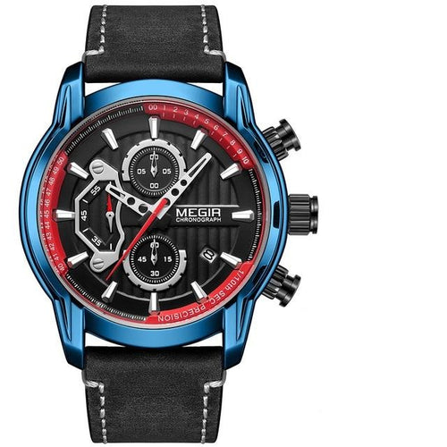 Men's Waterproof Analogue Watch With Luminous Hands And Complete Calendar - GiftWorldStyle - Luxury Jewelry and Accessories