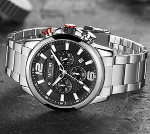 Waterproof Luminous Quartz Quartz For Men With Stainless Steel Strap - GiftWorldStyle - Luxury Jewelry and Accessories
