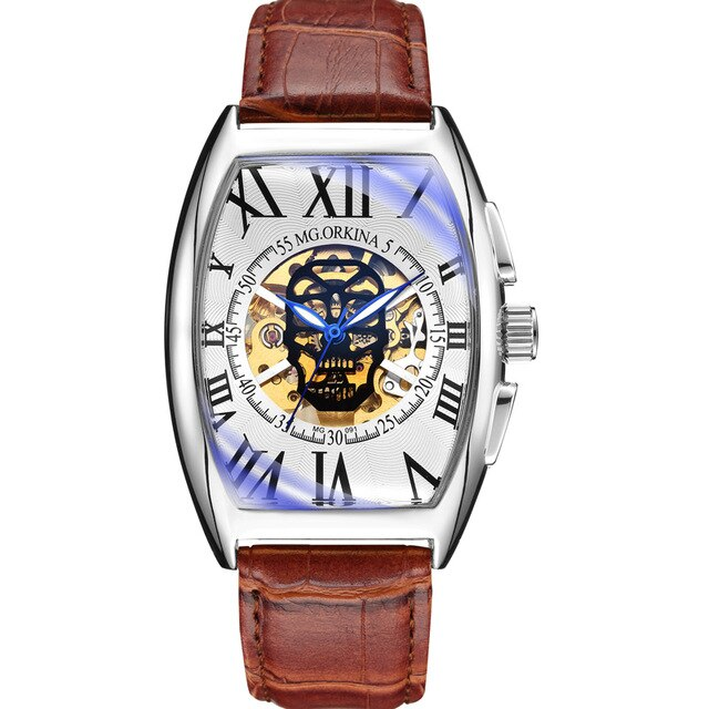 Mechanical Watches With Skeleton Dial And Automatic Self-Wind,3Bar - GiftWorldStyle - Luxury Jewelry and Accessories