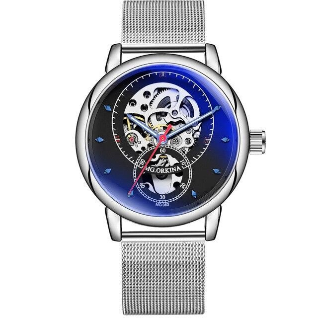 Automatic Transparent Watch With Waterproof Mesh And Luminous Hands - GiftWorldStyle - Luxury Jewelry and Accessories
