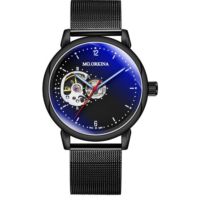 Stainless Steel Mechanical Watches For Men With Luminous Hands - GiftWorldStyle - Luxury Jewelry and Accessories
