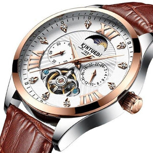 Luminous Automatic Watch With Complete Calendar And Moon Phase - GiftWorldStyle - Luxury Jewelry and Accessories