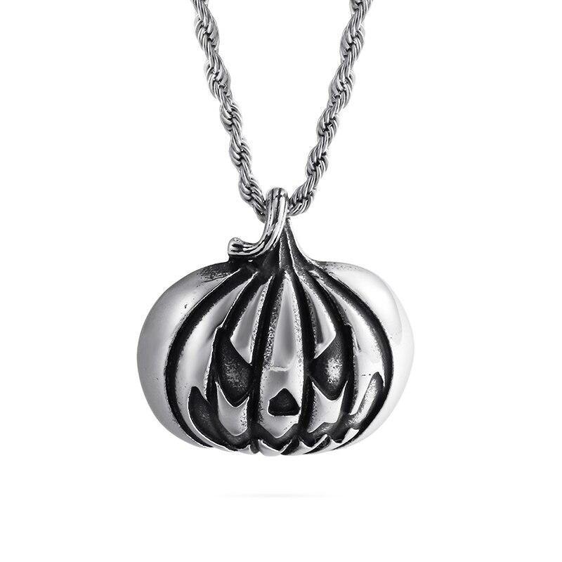 Evil Face Pumpkin Necklace - GiftWorldStyle - Luxury Jewelry and Accessories