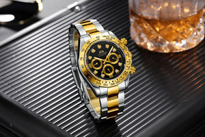Mechanical Watch With Luminous Hands And Complete Calendar, 3Bar - GiftWorldStyle - Luxury Jewelry and Accessories