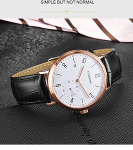 Mechanical Watch For Men With Self-Wind And Auto Date, Sapphire Crystal - GiftWorldStyle - Luxury Jewelry and Accessories