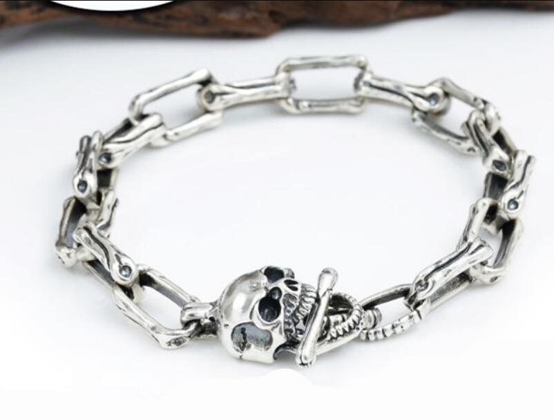 Skull Pure Silver Sterling 925 Bracelet - GiftWorldStyle - Luxury Jewelry and Accessories