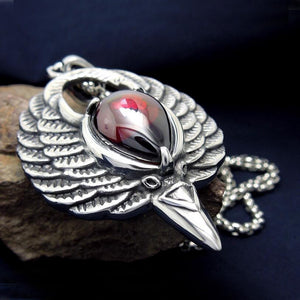 Gothic Bird Wings Natural Stone Necklace - GiftWorldStyle - Luxury Jewelry and Accessories