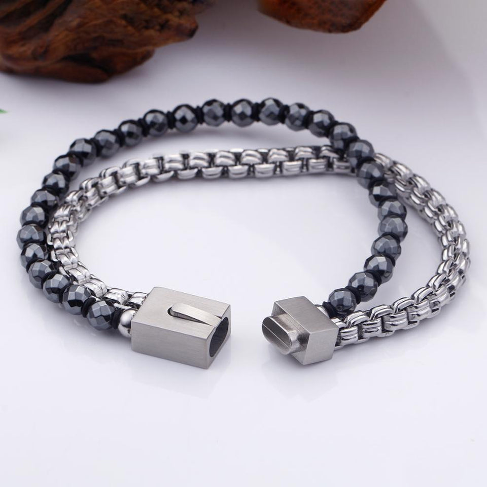 Beads Strand Stainless Steel Chain Link Bracelets - GiftWorldStyle - Luxury Jewelry and Accessories