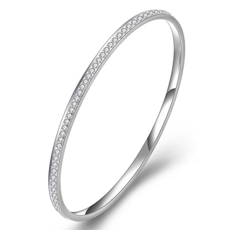 Bangles With Clear CZ Crystal - GiftWorldStyle - Luxury Jewelry and Accessories