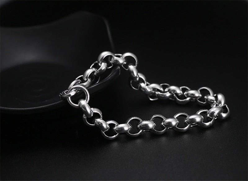 Vintage Interlocking Bracelet - 925 Sterling Silver - GiftWorldStyle - Luxury Jewelry and Accessories