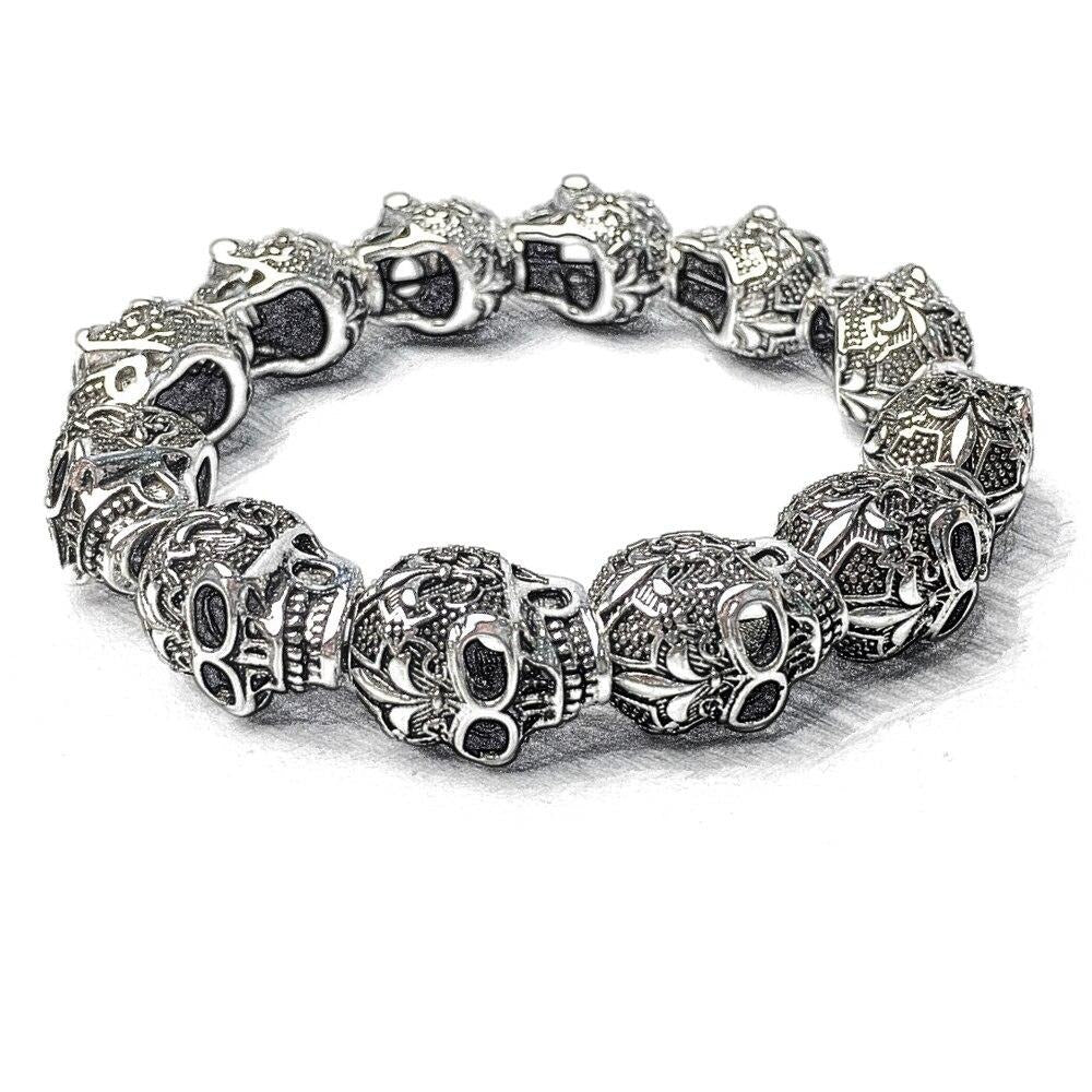 Skull Punk Bead Bracelets - GiftWorldStyle - Luxury Jewelry and Accessories