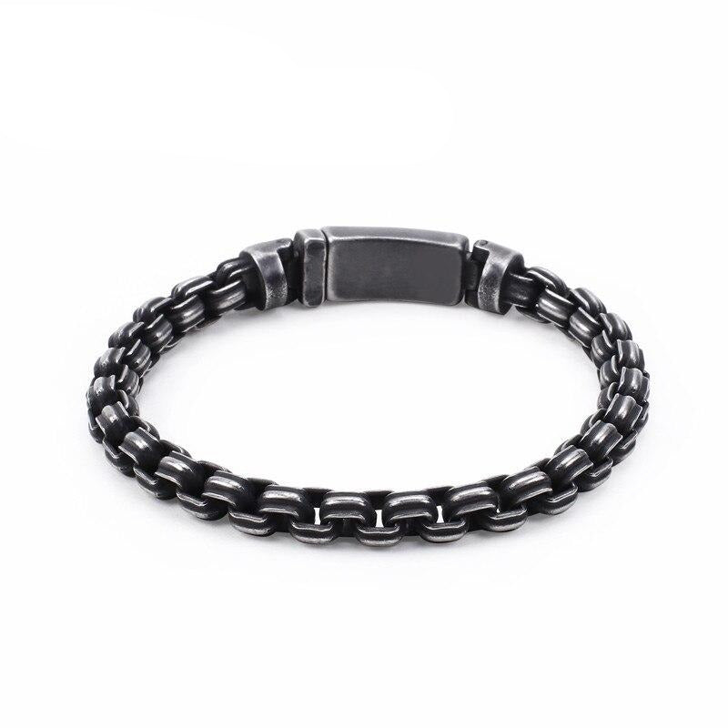 Matte Box Chain Bracelets - Stainless Steel - GiftWorldStyle - Luxury Jewelry and Accessories