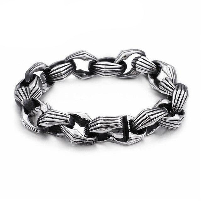 Punk Link Box Chain Bracelet - GiftWorldStyle - Luxury Jewelry and Accessories