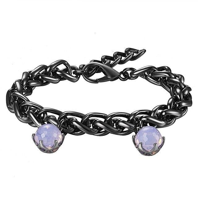 Gothic Bracelet With Elegant CZ Opal Pink - GiftWorldStyle - Luxury Jewelry and Accessories