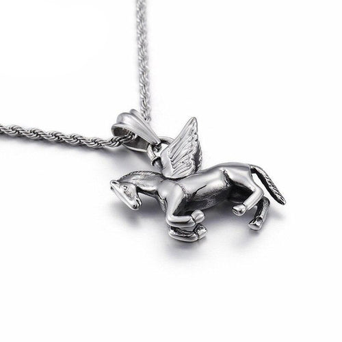Running Horse With Wings Necklace - GiftWorldStyle - Luxury Jewelry and Accessories